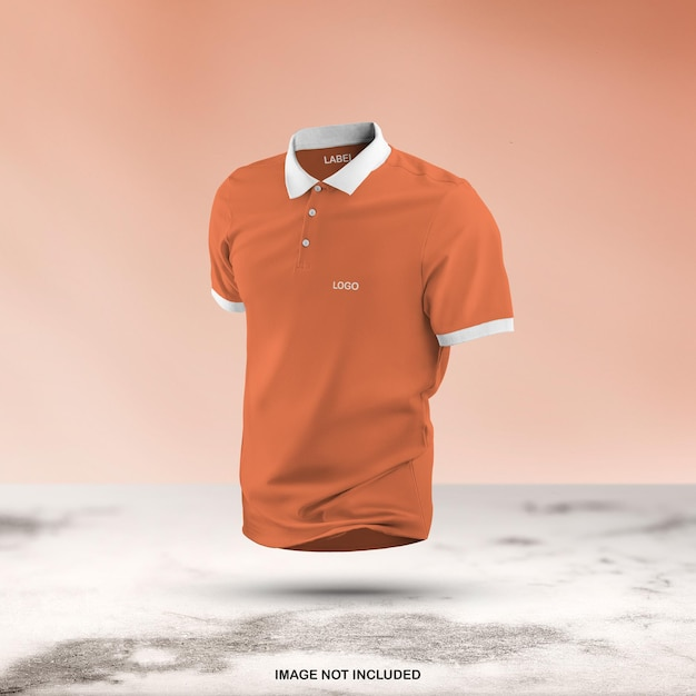 3d 폴로 T 셔츠 모형 디자인 절연 프리미엄 PSD 파일