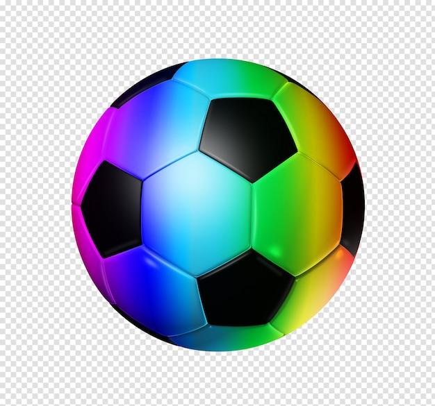 3d rainbow soccer ball isolated Premium Psd