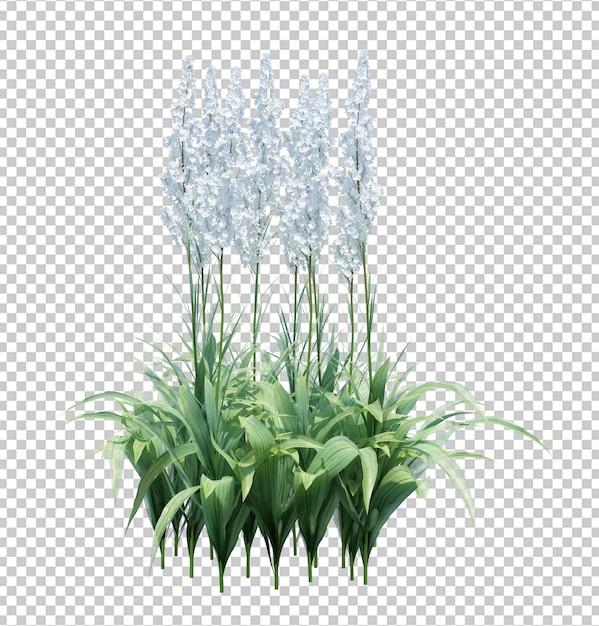 白で隔離される3 dレンダリングブラシツリー Premium Psd