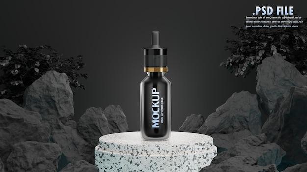 3d render of cosmetic for mockup branding