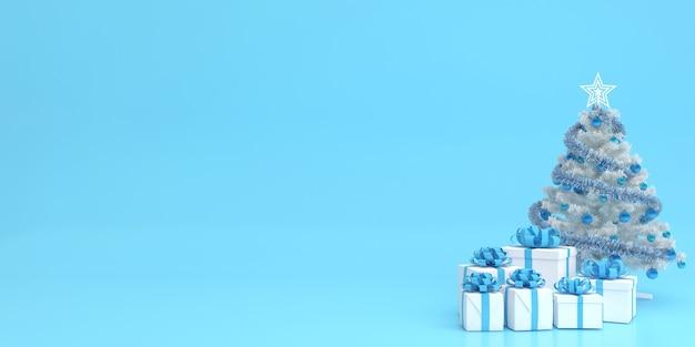 3d визуализация макет пастельных тонов с рождеством и новым годом Premium Psd
