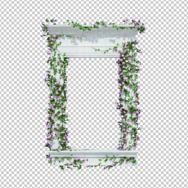 3d render ivy plants isolated Premium Psd