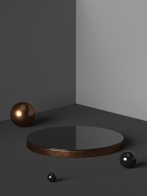 3d rendering of abstract scene geometry shape podium Premium Psd