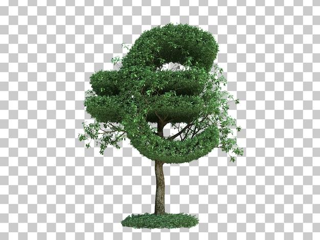 3d rendering of euro money symbol tree Premium Psd