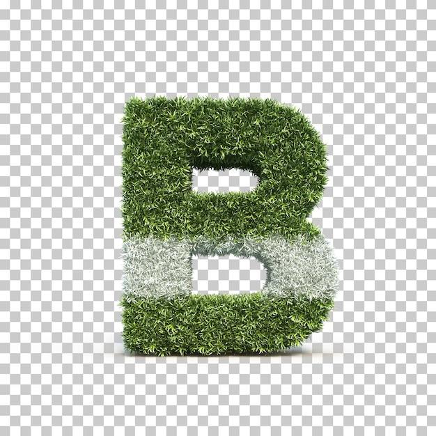 3d rendering of grass playing field alphabet b Premium Psd
