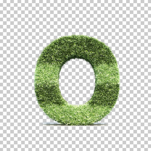 3d rendering of grass playing field alphabet o Premium Psd