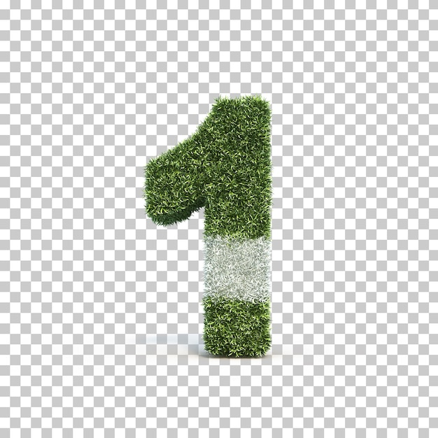 3d rendering of grass playing field number 1 Premium Psd
