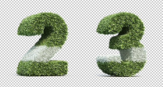 3d rendering of grass playing field number 2 and number 3 Premium Psd