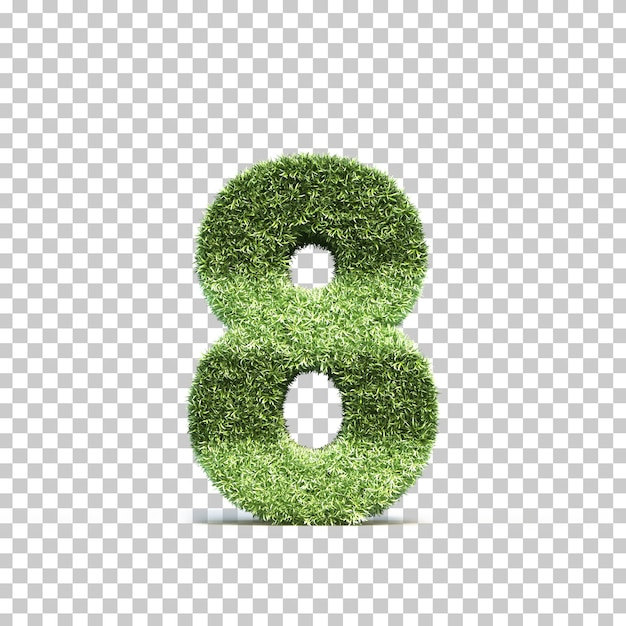 3d rendering of grass playing field number 8 Premium Psd