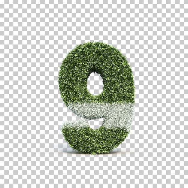 3d rendering of grass playing field number 9 Premium Psd