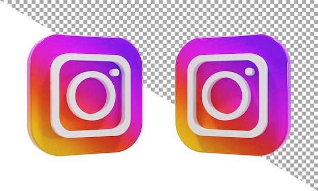 3d rendering icon logo instagram isometric