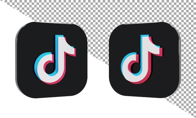 3d rendering icon logo tiktok isometric
