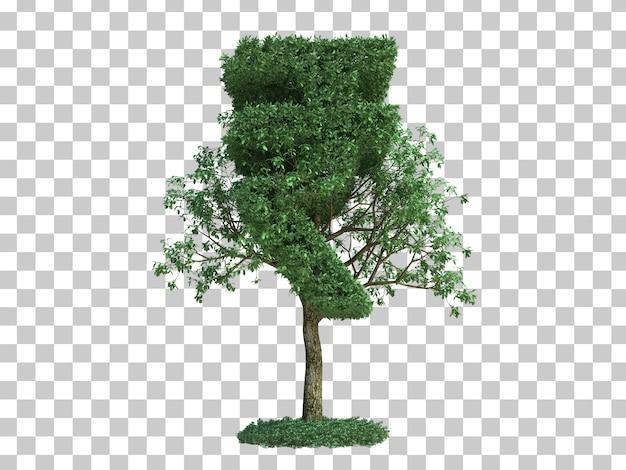 3d rendering of india money symbol tree Premium Psd