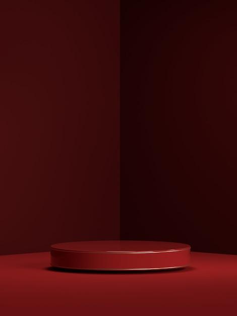 제품 표시를위한 추상 장면 기하학 모양 연단의 3d 렌더링 프리미엄 PSD 파일