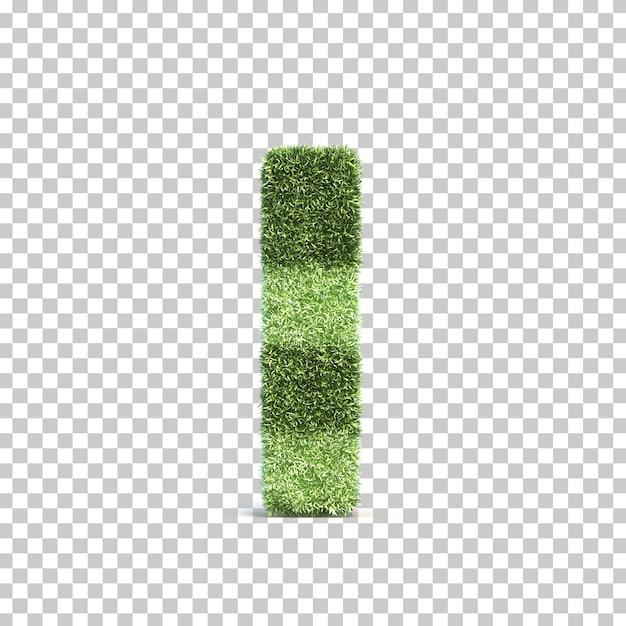 잔디 경기장 알파벳의 3d 렌더링 나 프리미엄 PSD 파일