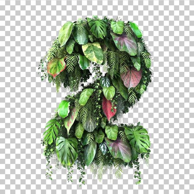垂直庭園番号2の3 dレンダリング Premium Psd