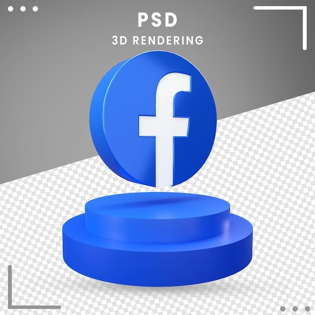 3d回転アイコンロゴfacebook分離 Premium Psd