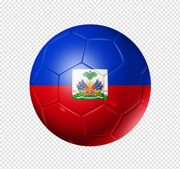 3d soccer ball with haiti team flag Premium Psd