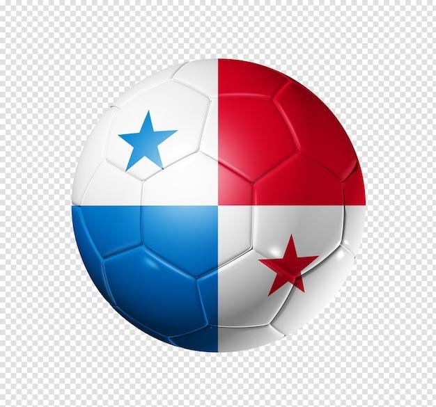 3d soccer ball with panama team flag Premium Psd
