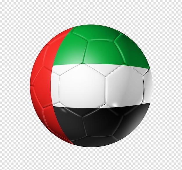 3d soccer ball with united arab emirates team flag Premium Psd
