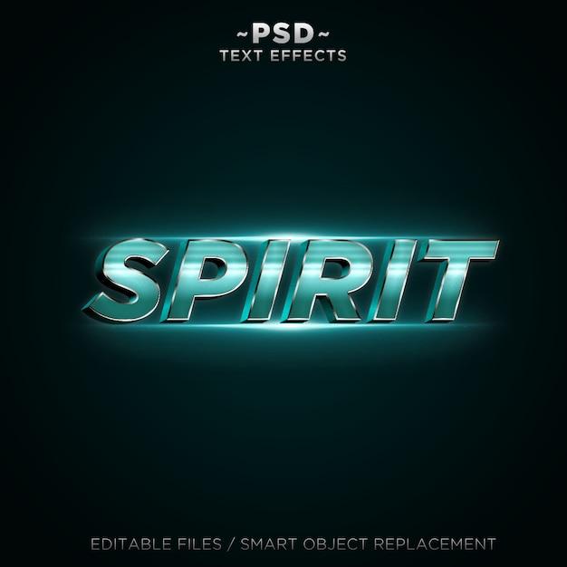 3d spiritテキスト効果 Premium Psd