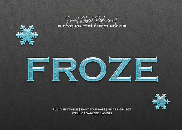 3d style froze text effect Premium Psd