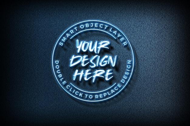 3d text effect logo mockup Premium Psd