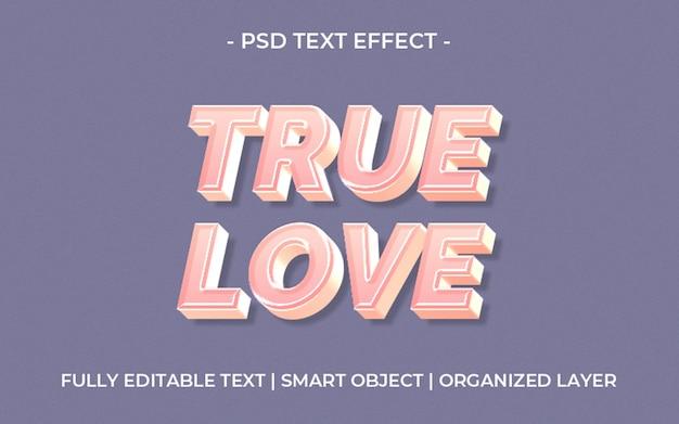 3d true love text effect template Premium Psd