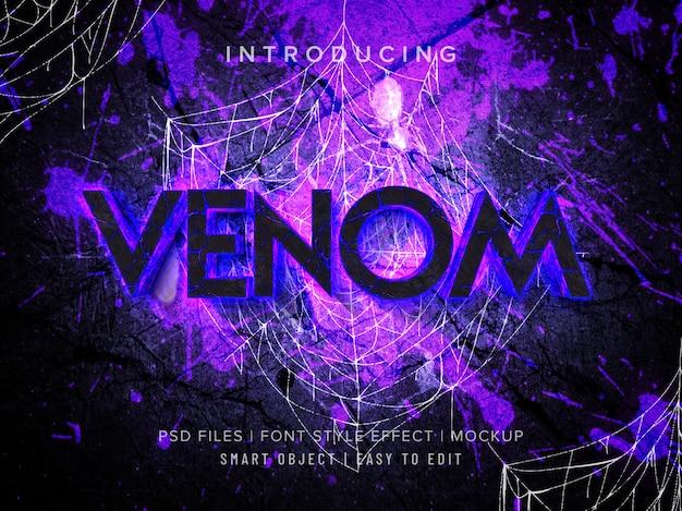 3d venom font style effect mockup Premium Psd