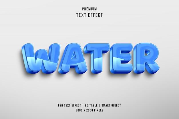 3-й водный редактируемый эффект стиля текста Premium Psd