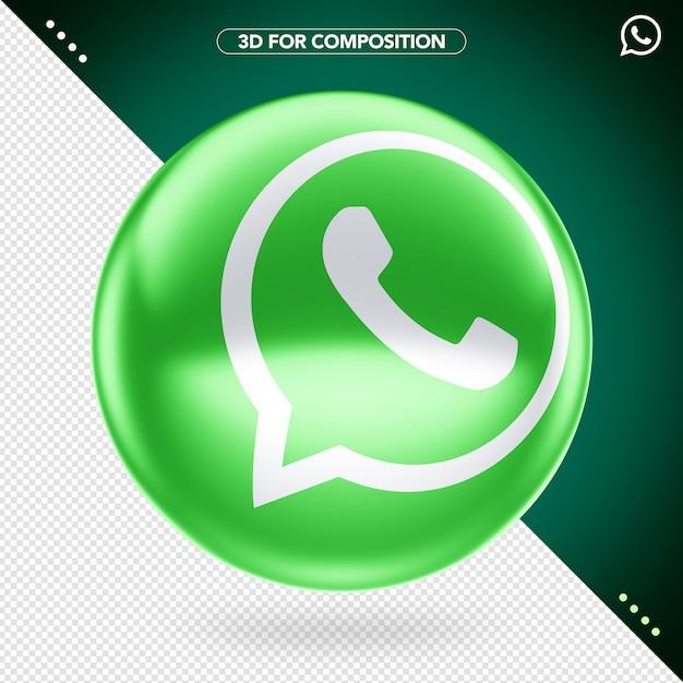 3d whatsapp logo Premium Psd
