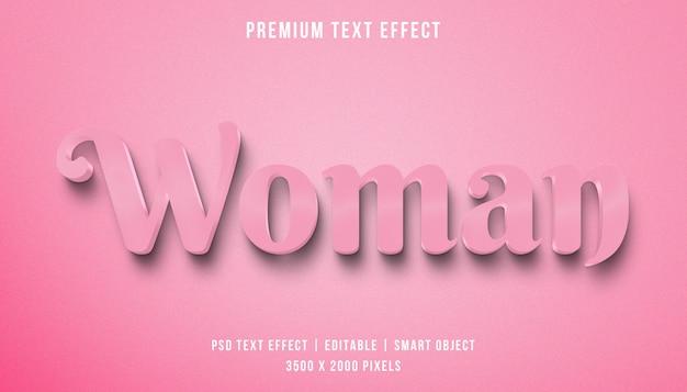 Текстовый эффект 3d женщина Premium Psd