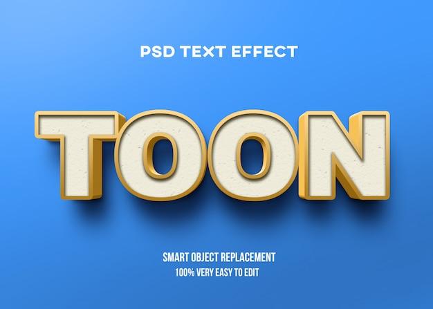 3d желтый синий текстовый эффект Premium Psd