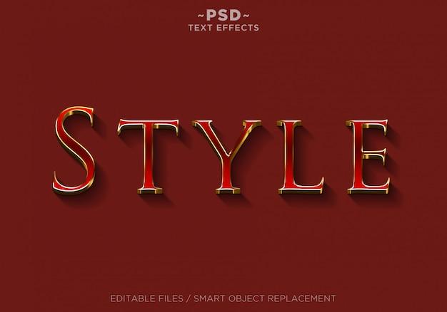 3d赤いスタイル効果の編集可能なテキスト Premium Psd