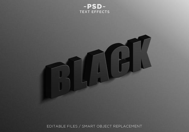 3dサインウォールブラックエフェクト編集可能なテキスト Premium Psd