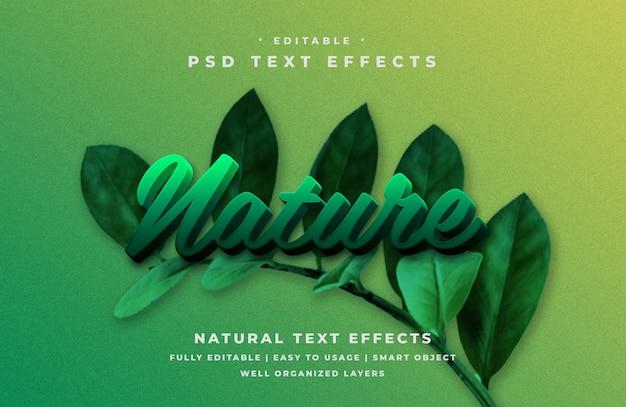 編集可能な3d自然テキストスタイルエフェクト Premium Psd