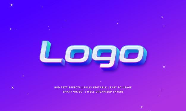 ロゴ3dテキストスタイルの効果 Premium Psd
