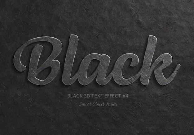 黒の太字の3dテキスト効果 Premium Psd