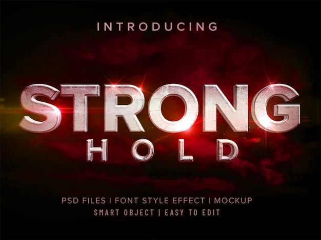 3dストロングホールドフォントスタイルエフェクトモックアップ Premium Psd