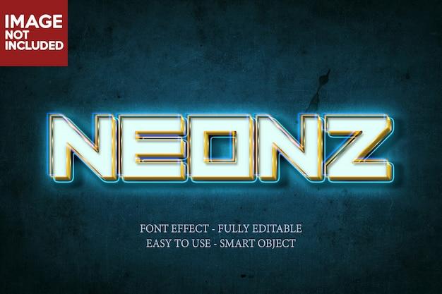 Неоновый 3d-эффект шрифта Premium Psd
