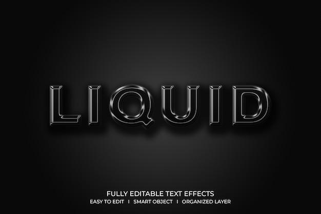 液体3dテキストスタイル効果 Premium Psd