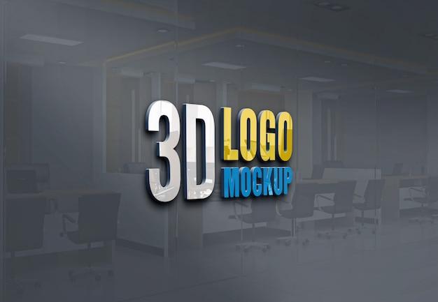 3d макет логотипа Premium Psd