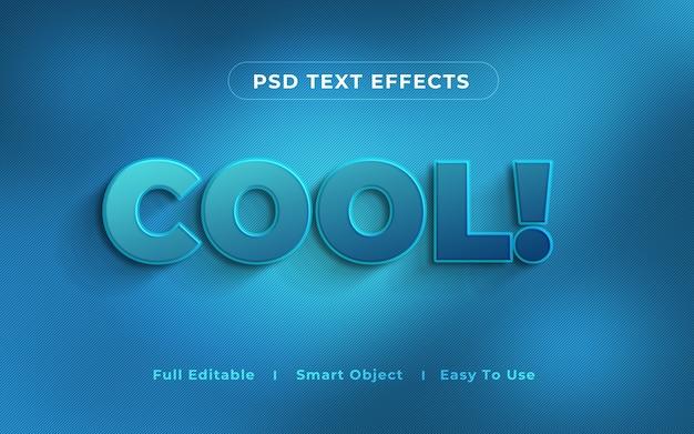 Крутой 3d текстовый эффект макет Premium Psd