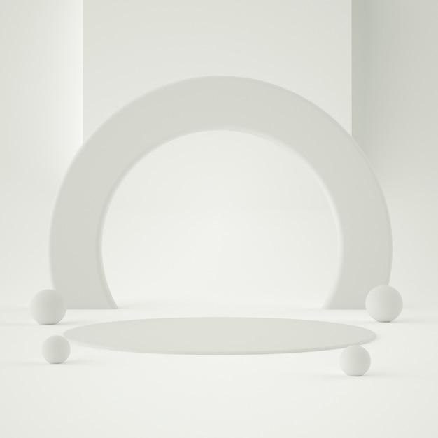 背景と編集可能な色で製品を配置するためのホログラフィック3d幾何学的ステージ Premium Psd