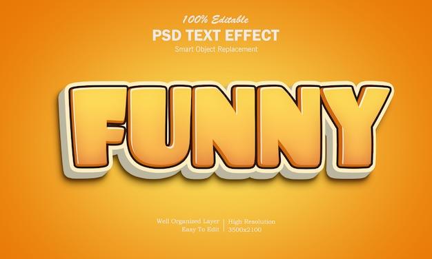 3d смешная игра логотип текстовый эффект Premium Psd