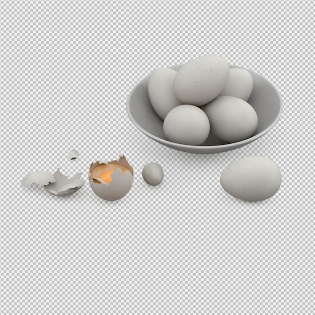 卵3dレンダリング Premium Psd