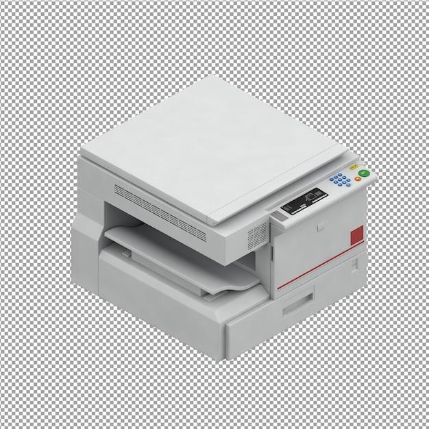 等尺性事務機器3dレンダリング Premium Psd