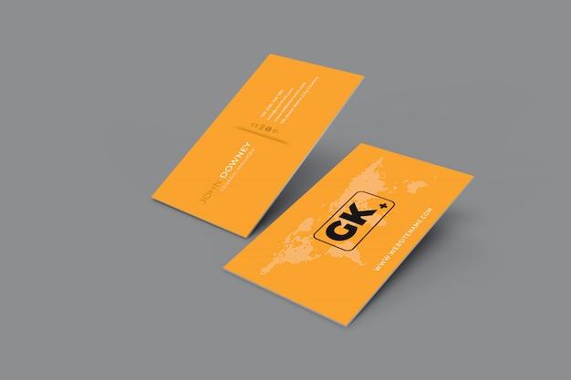 空白の名刺のモックアップ。 3dレンダリング Premium Psd