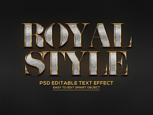 3dロイヤルスタイルのテキスト効果 Premium Psd