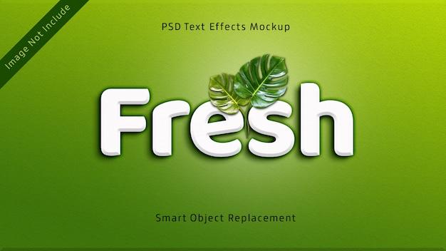 新鮮な3dテキスト効果モックアップ Premium Psd